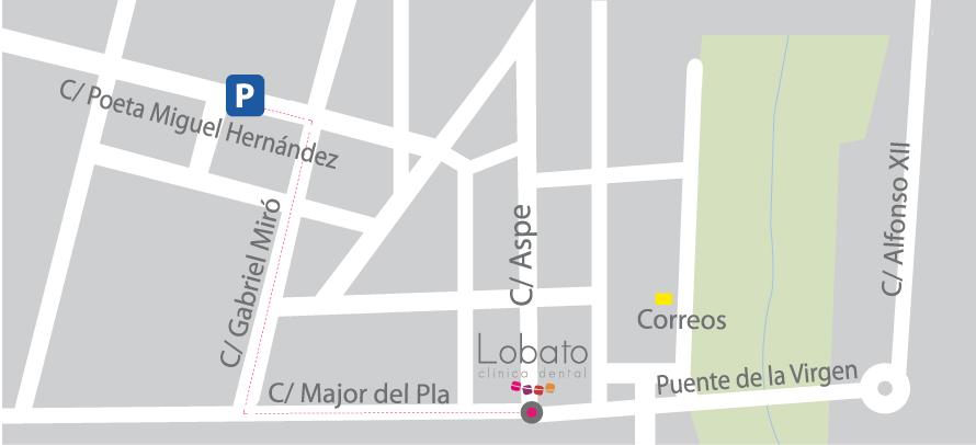 Mapa Lobato dental